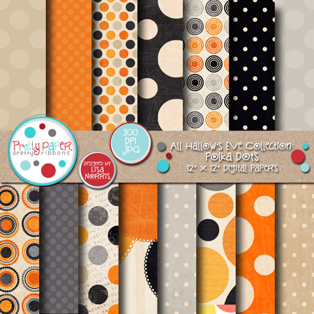 All Hallow's Eve Polka Dots