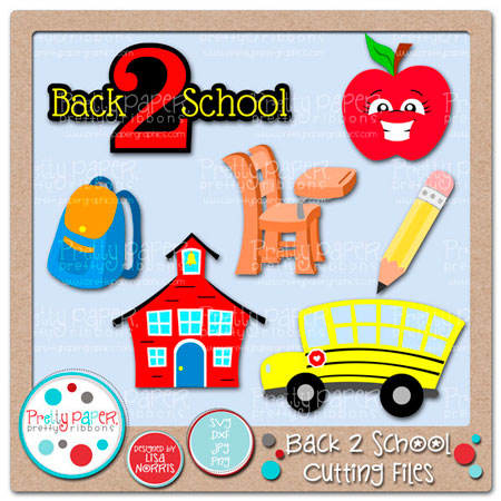 Back 2 School Cutting Files
