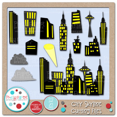 City Skyline Cutting Files