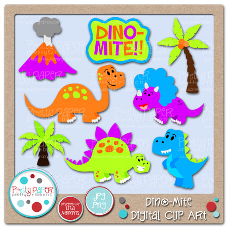Dino-Mite Digital Clip Art