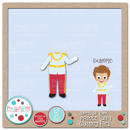 Dress Up Boy Prince Suit 1 Cutting Files