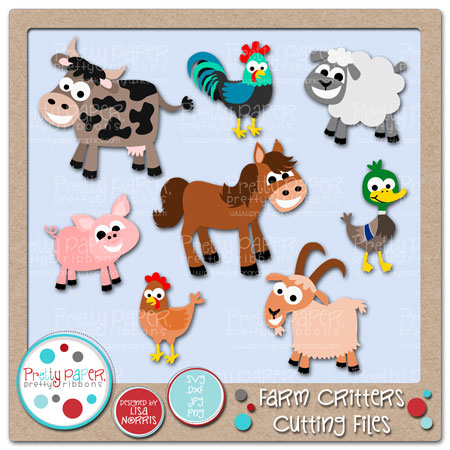 Farm Critters Cutting Files