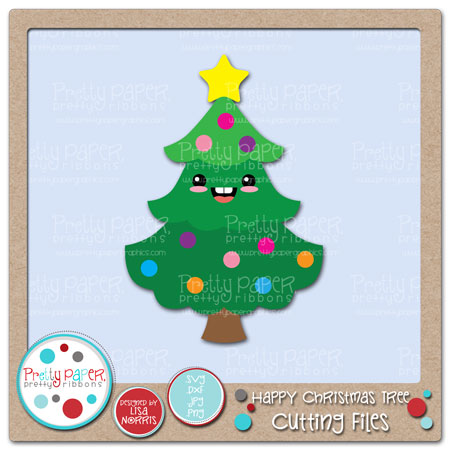 Happy Christmas Tree Cutting Files