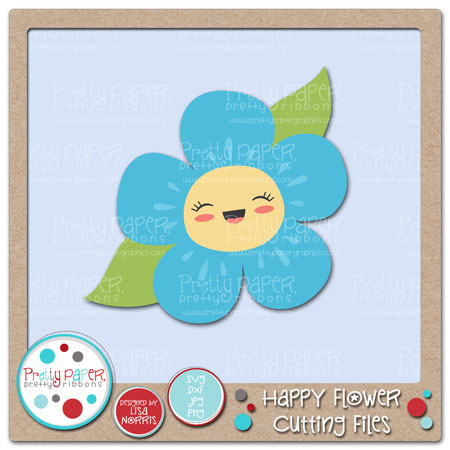 Happy Flower Cutting Files