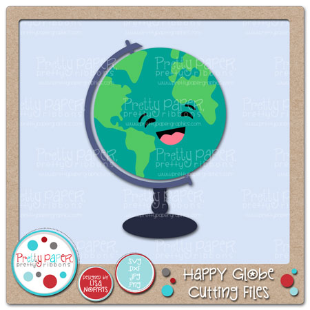 Happy Globe Cutting Files