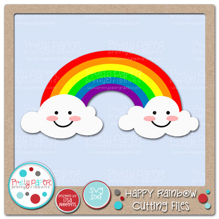 Happy Rainbow Cutting Files
