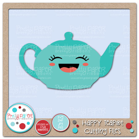Happy Teapot Cutting Files