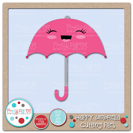 Happy Umbrella Cutting Files