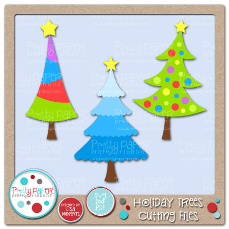 Holiday Trees Cutting Files