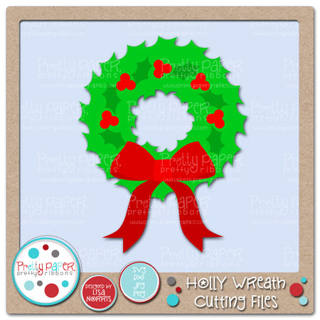 Holly Wreath Cutting Files