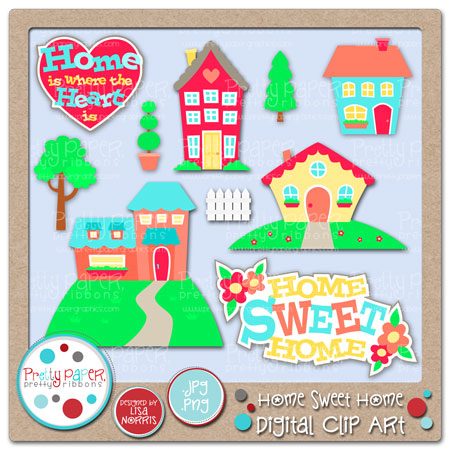 Home Sweet Home Digital Clip Art