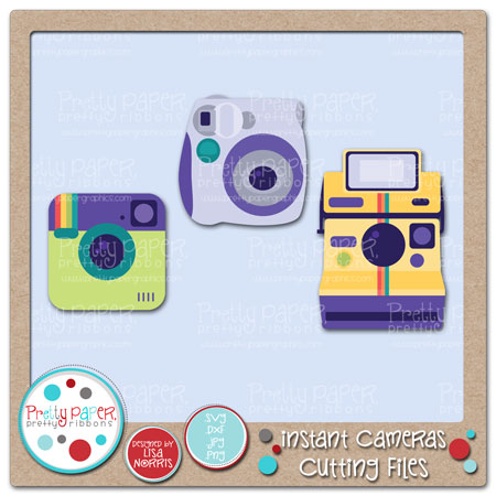 Instant Cameras Cutting Files