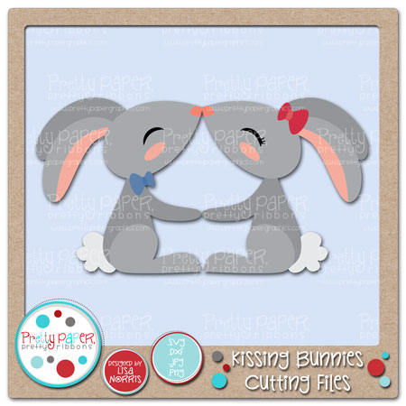 Kissing Bunnies Cutting Files