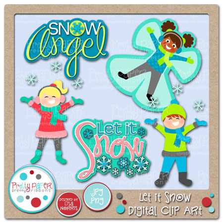 Let it Snow Digital Clip Art