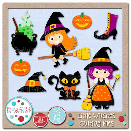 Little Witches Cutting Files