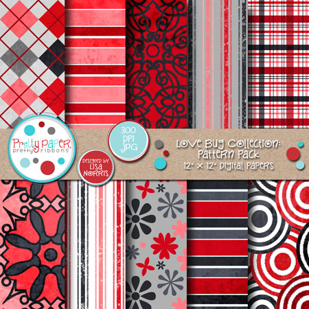 Love Bug Pattern Pack