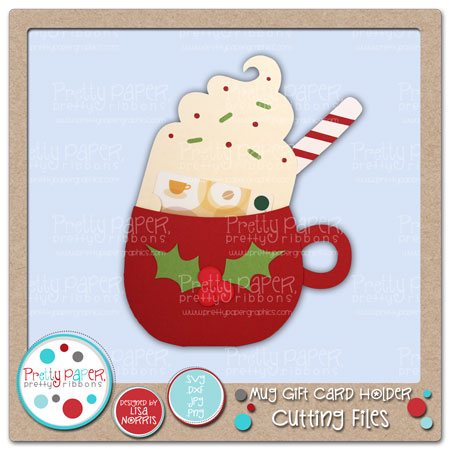 Mug Gift Card Holder Cutting Files