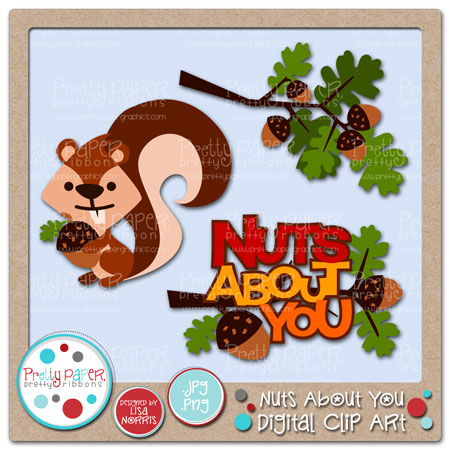 Nuts About You Digital Clip Art