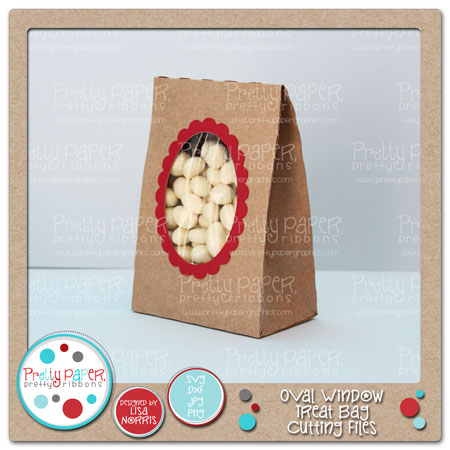 Oval Window Treat Bag Cutting Files