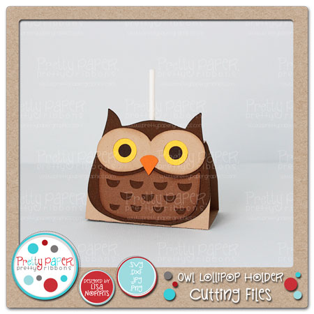 Owl Lollipop Holder Cutting Files