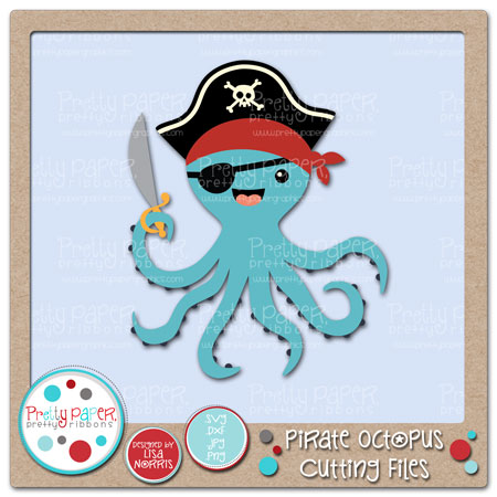 Pirate Octopus Cutting Files