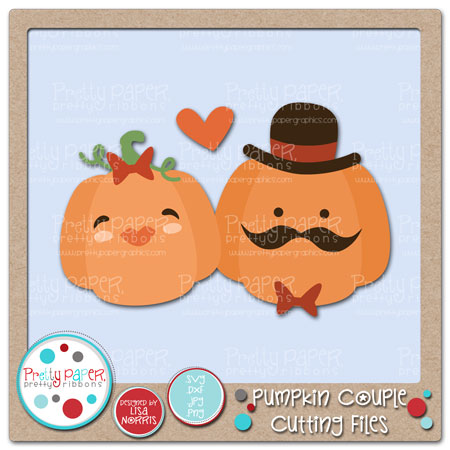 Pumpkin Couple Cutting Files
