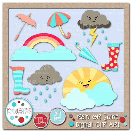 Rain or Shine Digital Clip Art