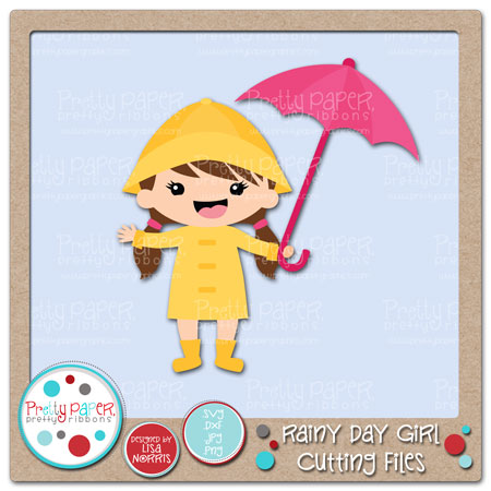 Rainy Day Girl Cutting Files