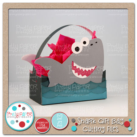 Shark Gift Bag Cutting Files