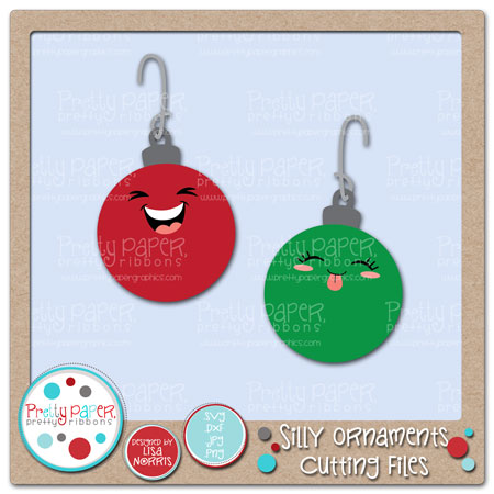 Silly Ornaments Cutting Files