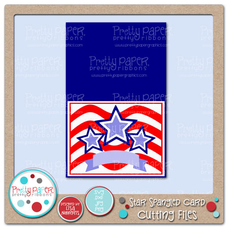 Star Spangled Card Cutting Files