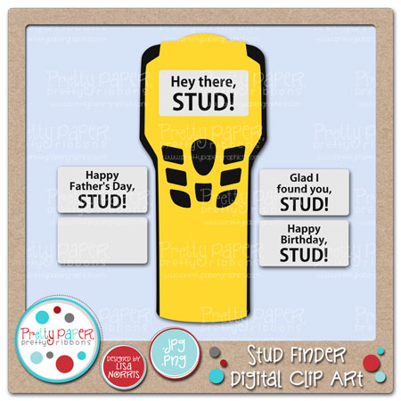 Stud Finder Digital Clip Art
