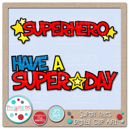 Super Titles Digital Clip Art