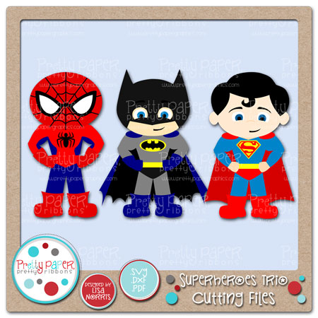 Superheroes Trio Cutting Files
