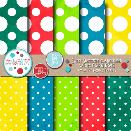 Sweet Summer White Polka Dots
