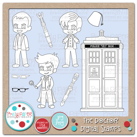 The Doctor Digital Stamps