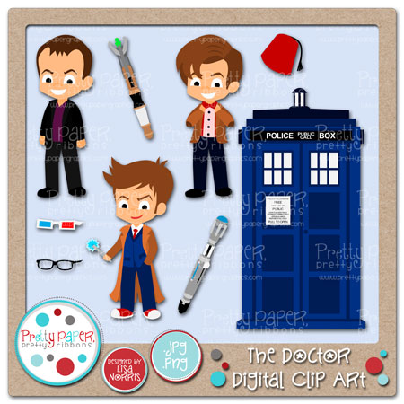 The Doctor Digital Clip Art