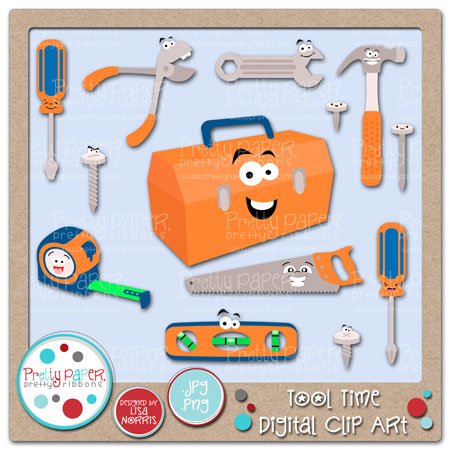 Tool Time Digital Clip Art