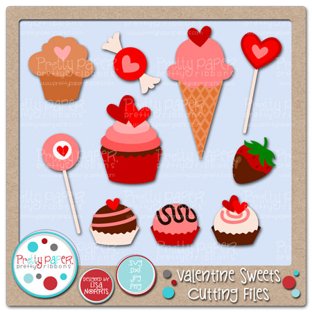 Valentine Sweets Cutting Files