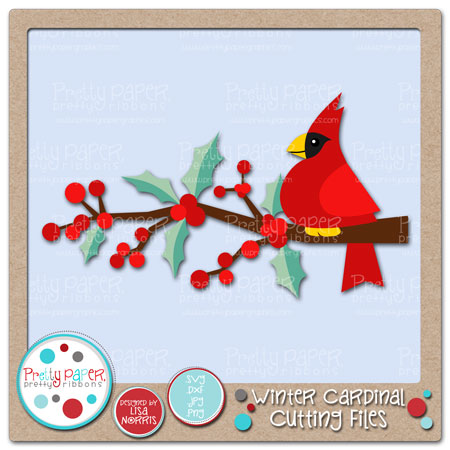 Winter Cardinal Cutting Files