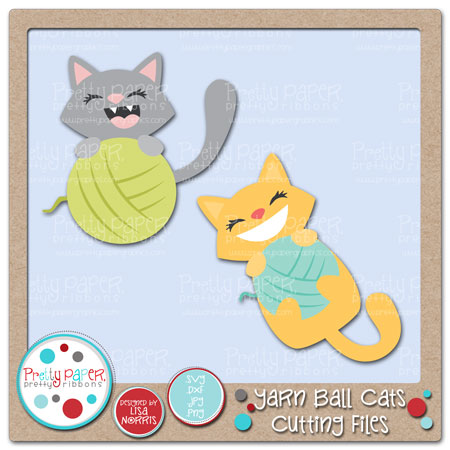 Yarn Ball Cats Cutting Files