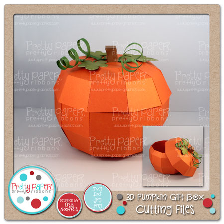 3D Pumpkin Gift Box Cutting Files