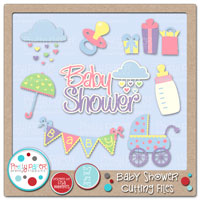 Baby Shower Cutting Files