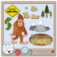 Bigfoot Digital Clip Art