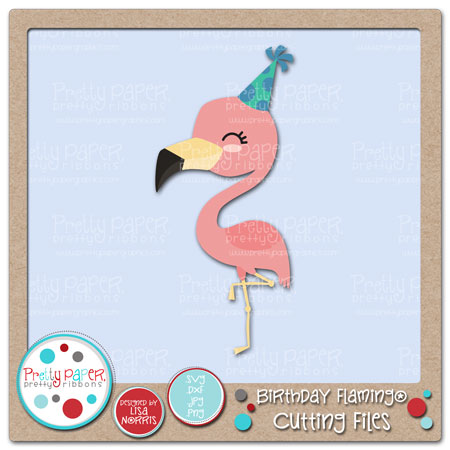 Birthday Flamingo Cutting Files