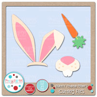 Bunny Photo Props Cutting Files