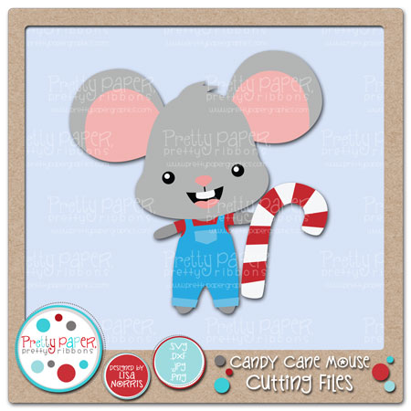Candy Cane Mouse Cutting Files