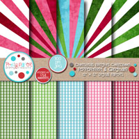 Christmas Brights Peppermint Gingham