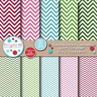 Christmas Brights White Chevron