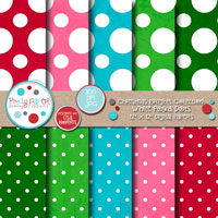 Christmas Brights White Polka Dots